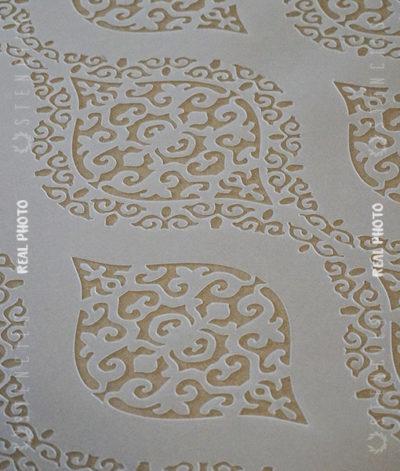 damascus szablon damaszek ornament na ścianę2