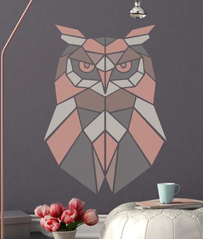 szablon malarski na ścianę do malowania sowa sowy scandi styl skandynawski diy zrób to sam 1