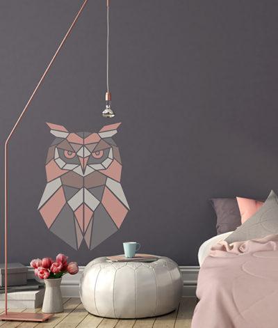szablon malarski na ścianę do malowania sowa sowy scandi styl skandynawski diy zrób to sam 2