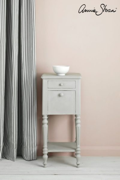 Chicago Grey side table Ticking in Graphote curtain. 72dpi image 1