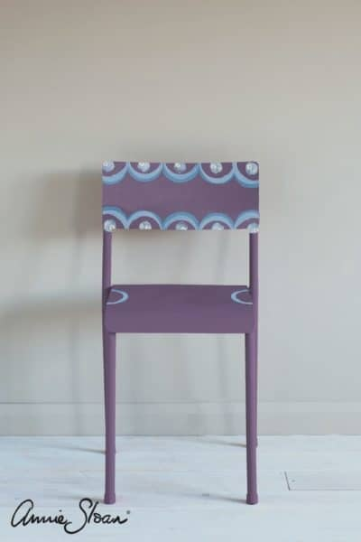 Rodmell Annie Sloan With Charleston Decorative Paint Set in Rodmell Chair painted with Greek Blue and Old White finished with Clear Wax mid century modern