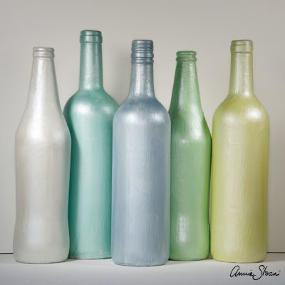Chalk Paint mixed with Pearl Glaze bottles 1080