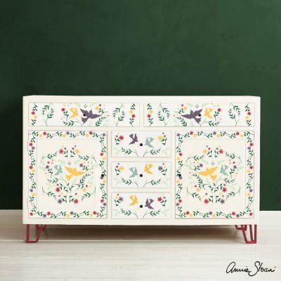 Mexican Bird Stencil Furniture